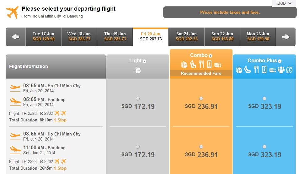 Vé máy bay đi Bandung giá rẻ