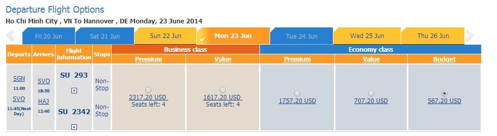 Vé máy bay đi Hannover giá