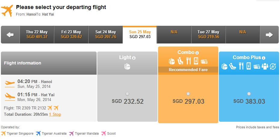Vé máy bay đi Hat Yai giá rẻ