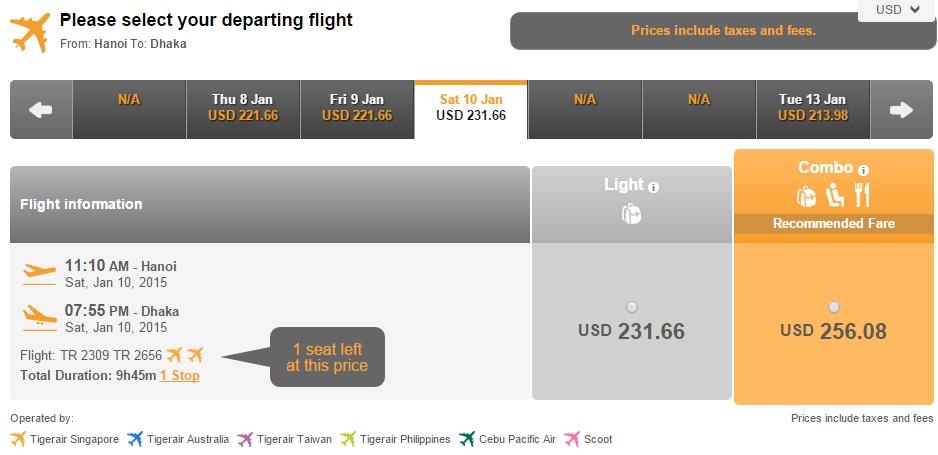 Vé máy bay Hà Nội đi Dhaka giá rẻ