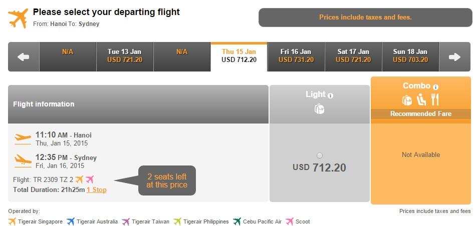 Vé máy bay Hà Nội đi Úc giá rẻ