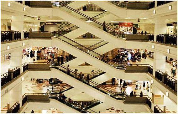 Một trung tâm thương mại ở Bắc Kinh