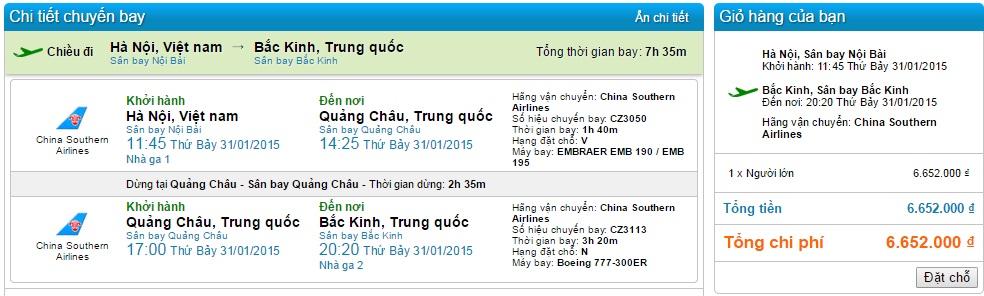 Vé máy bay Hà Nội đi Bắc Kinh giá rẻ