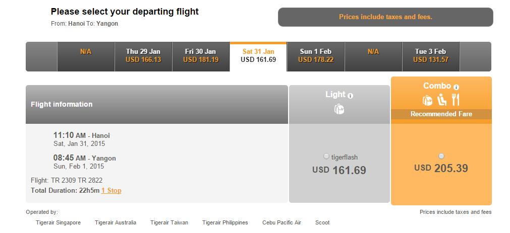 Vé máy bay đi Myanmar bao nhiêu tiền