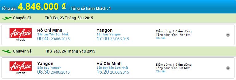 HCM-Yangon Air Asia