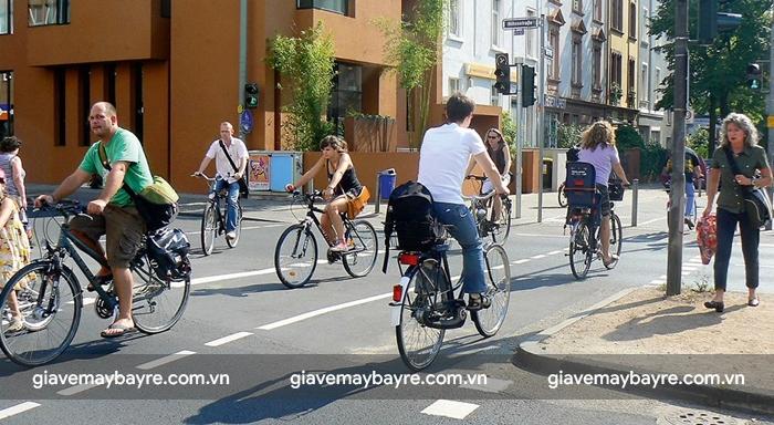 Frankfurt có hệ thống giao thông dành riêng cho xe đạp
